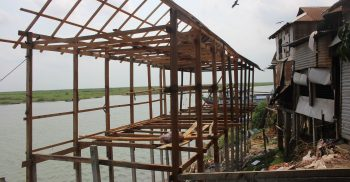 ভাগ্যকুলে মালিকানা জায়গায় জবরদখল করে দোকান ঘর নির্মাণ